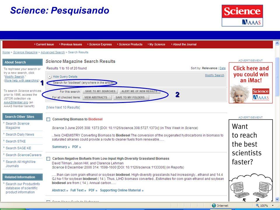 Science: Pesquisando 1 2