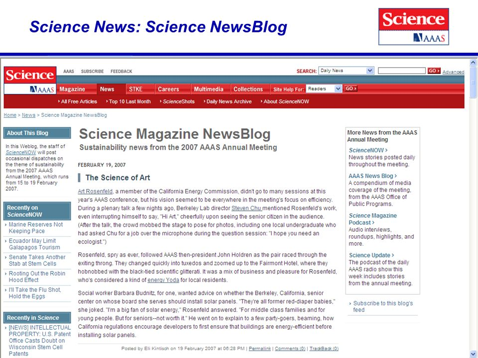 Science News: Science NewsBlog