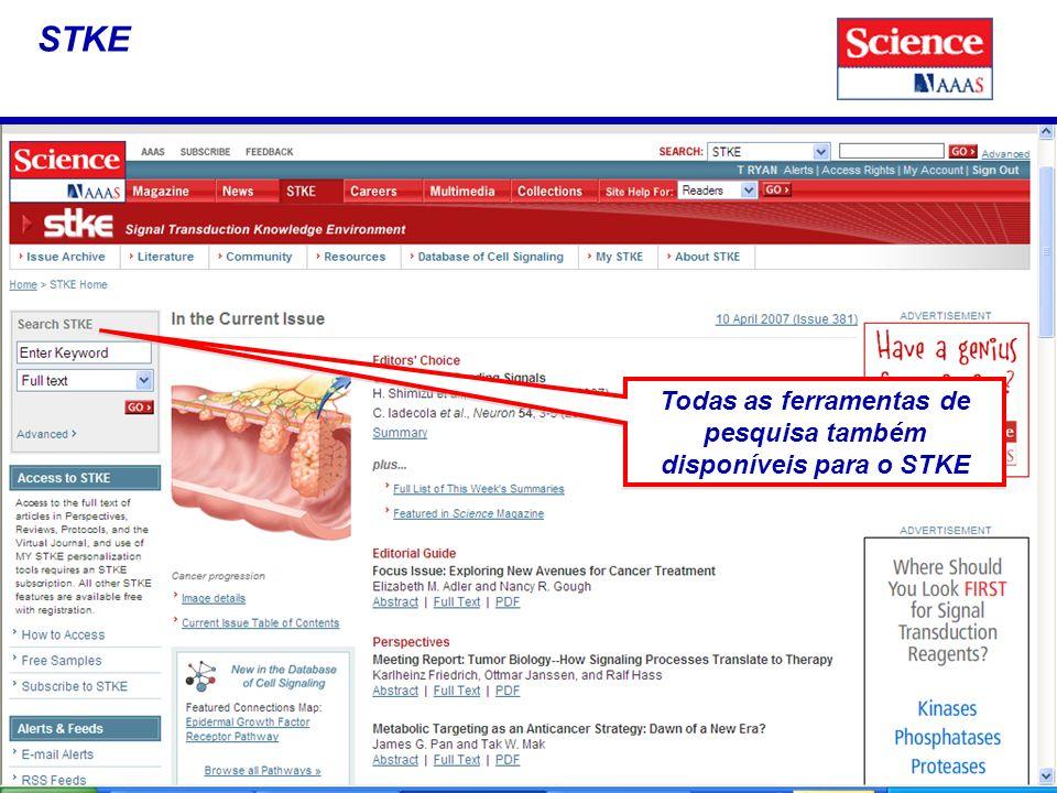 STKE Todas as ferramentas de pesquisa também disponíveis para o STKE