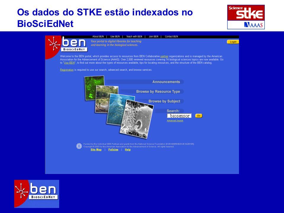Os dados do STKE estão indexados no BioSciEdNet