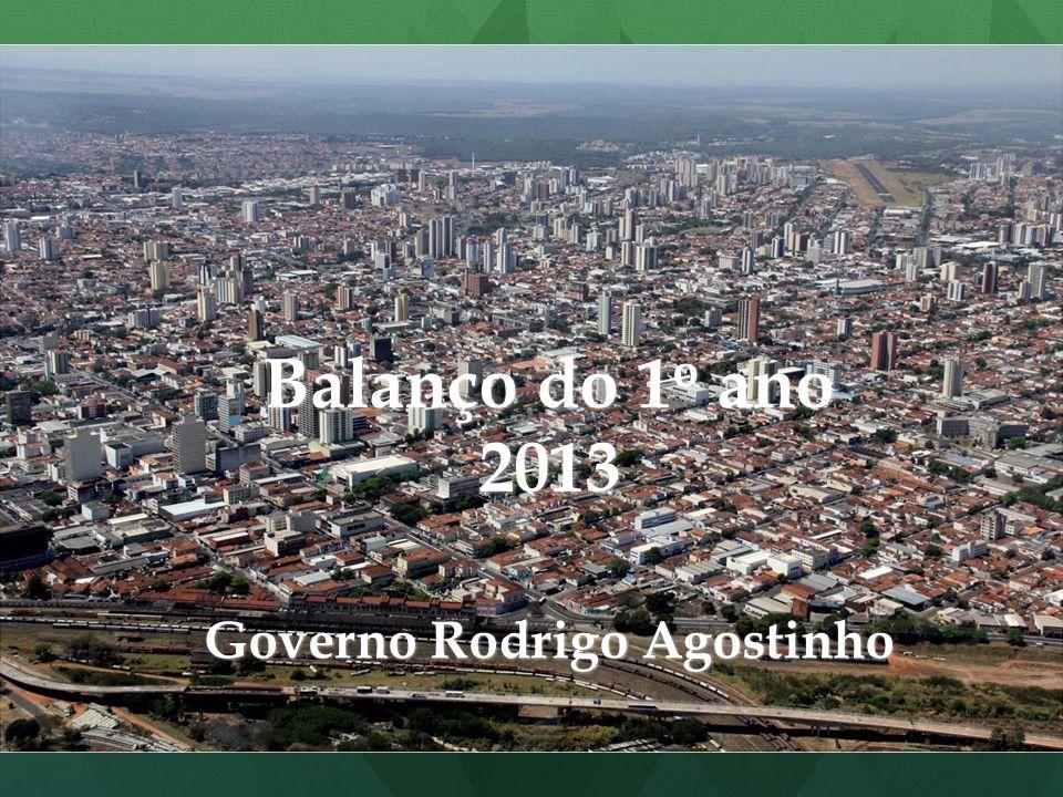 Balanço do 1 o ano 2013 Governo Rodrigo Agostinho