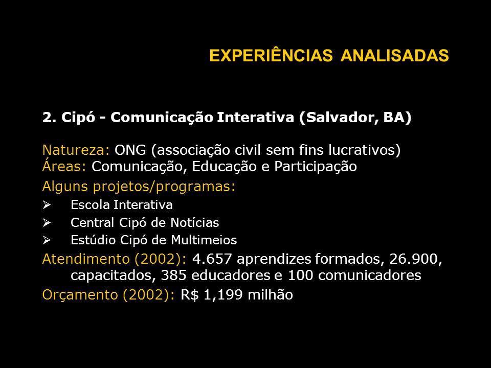 EXPERIÊNCIAS ANALISADAS 2.
