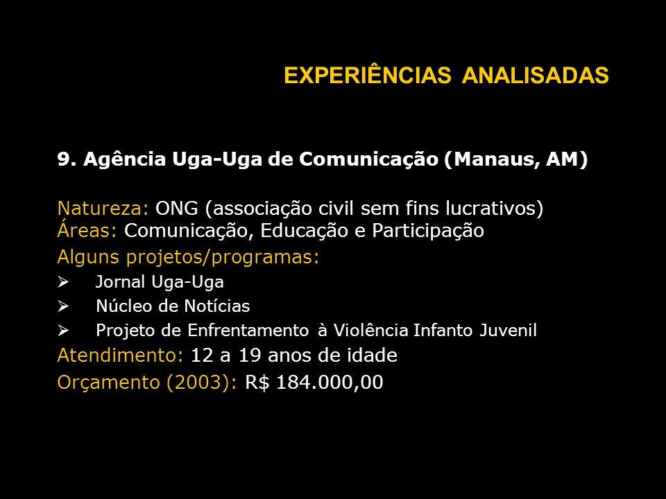 EXPERIÊNCIAS ANALISADAS 9.