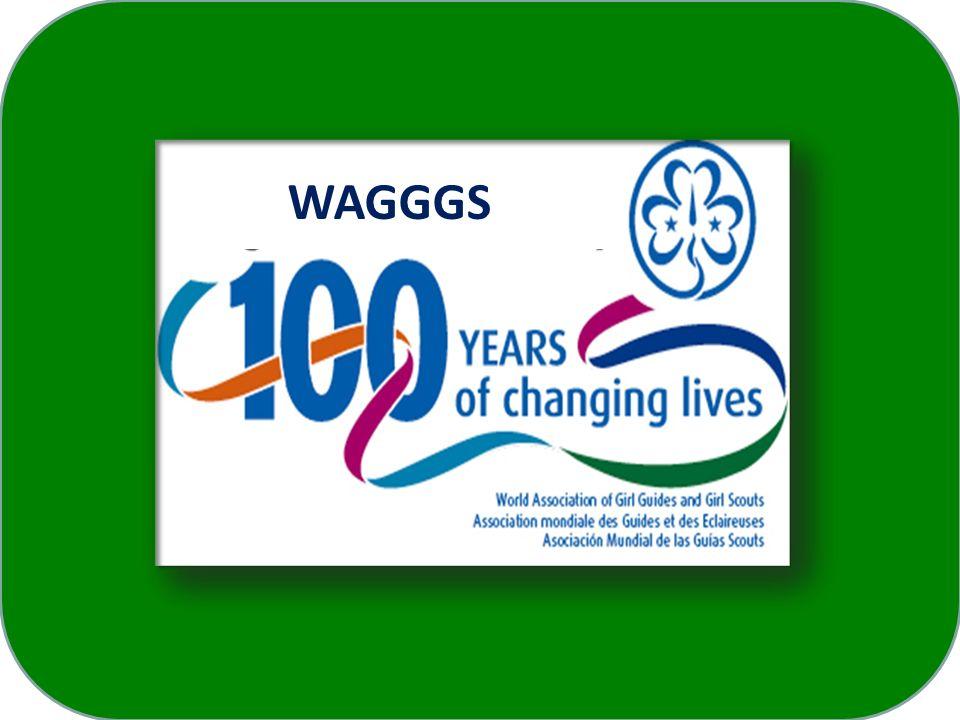 Centenário da WAGGGS Feliz comemoração do Centenário para todos os Bandeirantes do Brasil, seus amigos e famílias.