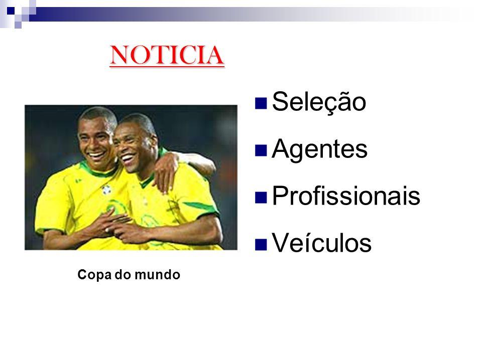 Seleção Agentes Profissionais Veículos NOTICIA Copa do mundo