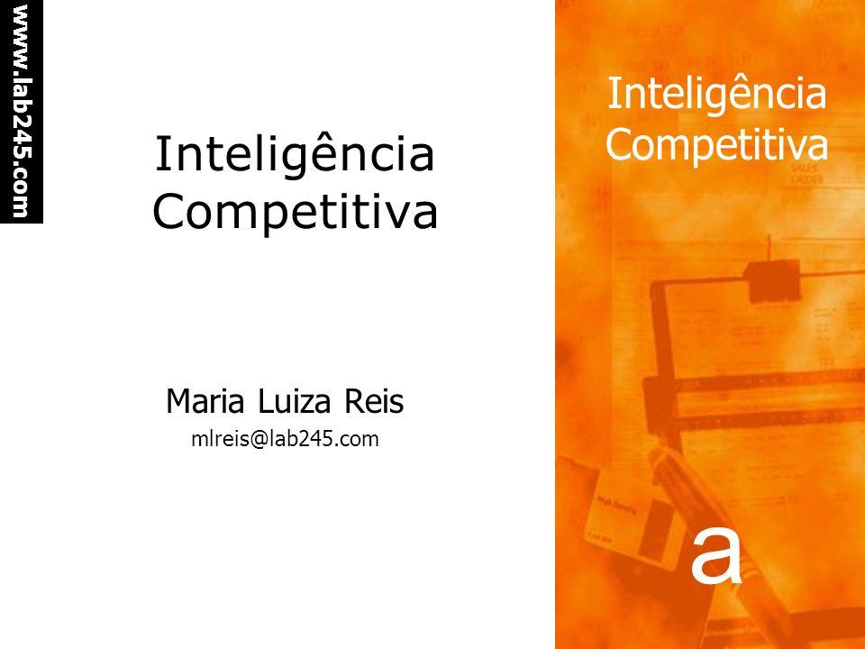 a www.lab245.com Inteligência Competitiva Maria Luiza Reis mlreis@lab245.com