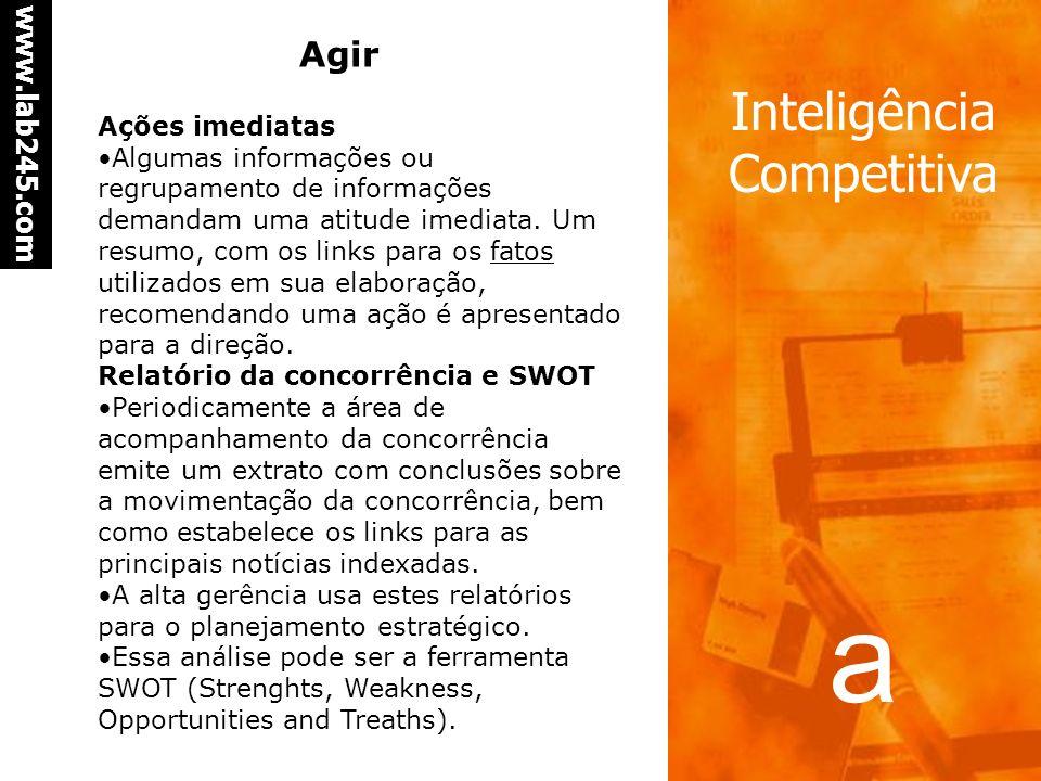 a www.lab245.com Inteligência Competitiva Revisando e enriquecendo comentários Os comentários são fundamentais pois são eles que permitem enriquecer o