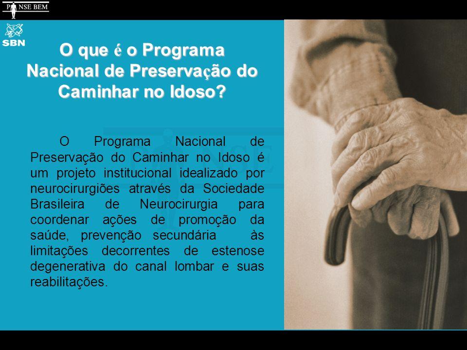 O que é o Programa Nacional de Preserva ç ão do Caminhar no Idoso.