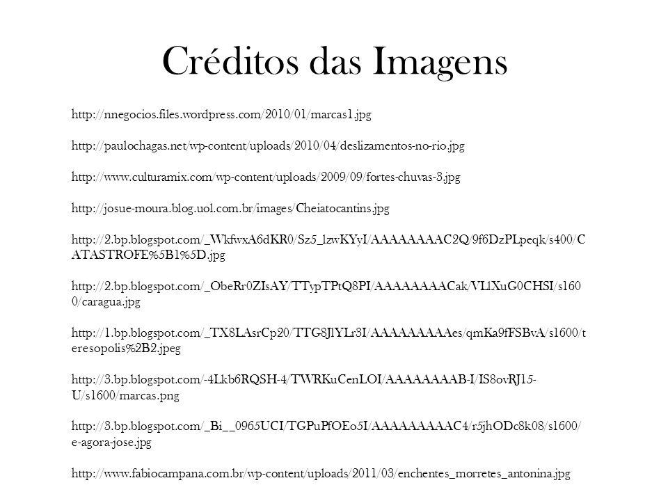 Créditos das Imagens http://nnegocios.files.wordpress.com/2010/01/marcas1.jpg http://paulochagas.net/wp-content/uploads/2010/04/deslizamentos-no-rio.j
