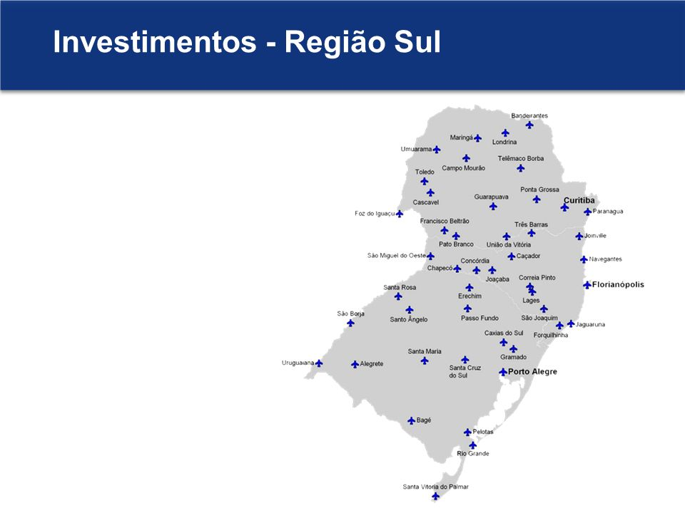 Investimentos - Região Sul
