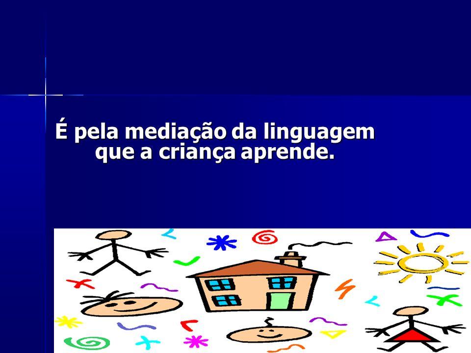 É pela mediação da linguagem que a criança aprende.