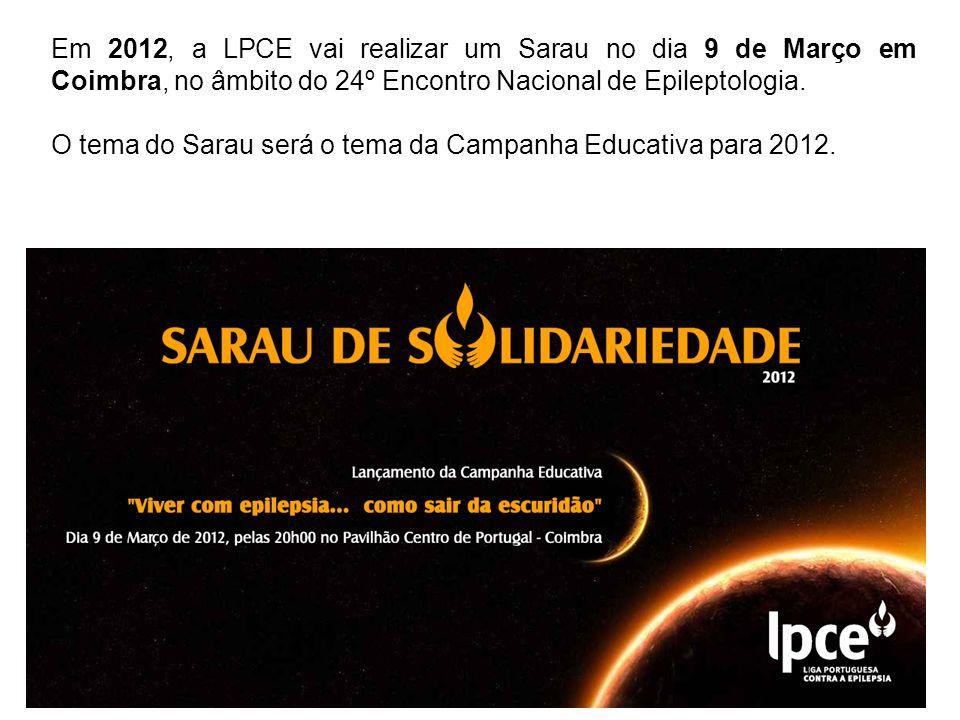 Em 2012, a LPCE vai realizar um Sarau no dia 9 de Março em Coimbra, no âmbito do 24º Encontro Nacional de Epileptologia. O tema do Sarau será o tema d