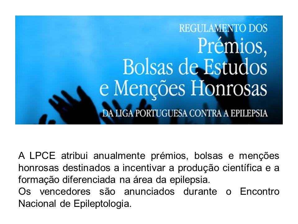 A LPCE atribui anualmente prémios, bolsas e menções honrosas destinados a incentivar a produção científica e a formação diferenciada na área da epilep