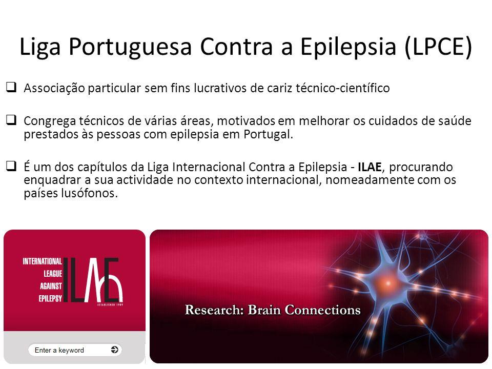 Liga Portuguesa Contra a Epilepsia (LPCE) Associação particular sem fins lucrativos de cariz técnico-científico Congrega técnicos de várias áreas, mot