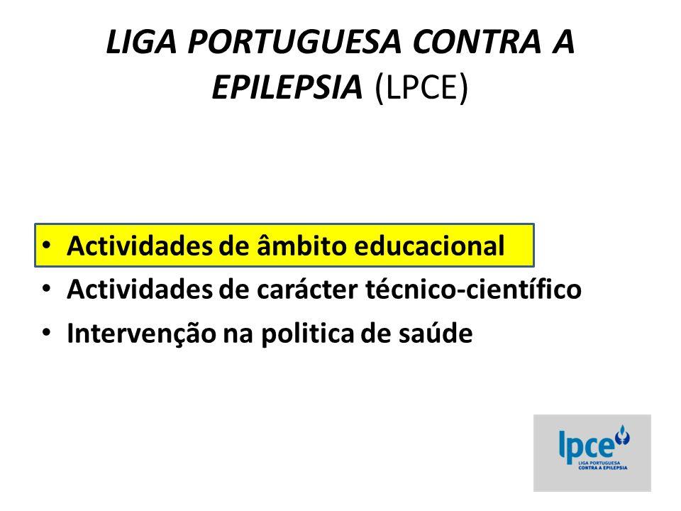 Campanha educativa da LPCE - 2012 Em fase de execução, esta campanha educativa é uma parceria com a Associação de doentes – a EPI – e será lançada no decurso do 24º Encontro Nacional de Epileptologia, em Coimbra, nos dias 9 e 10 de Março de 2012, culminando com o Dia Nacional da Epilepsia, dia 11 de Março.