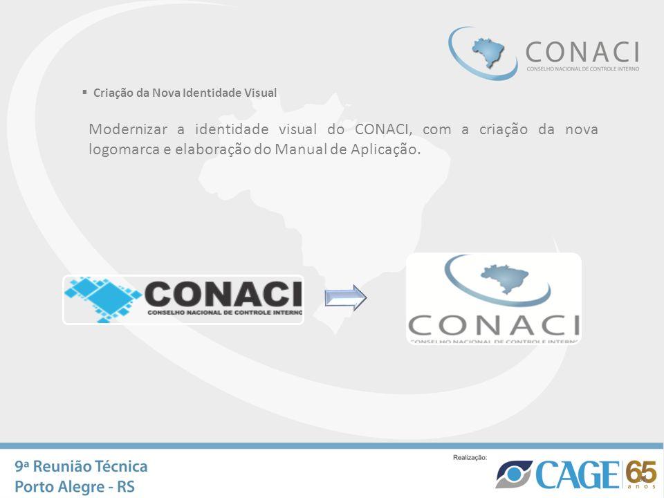 Criação da Nova Identidade Visual Modernizar a identidade visual do CONACI, com a criação da nova logomarca e elaboração do Manual de Aplicação. 31
