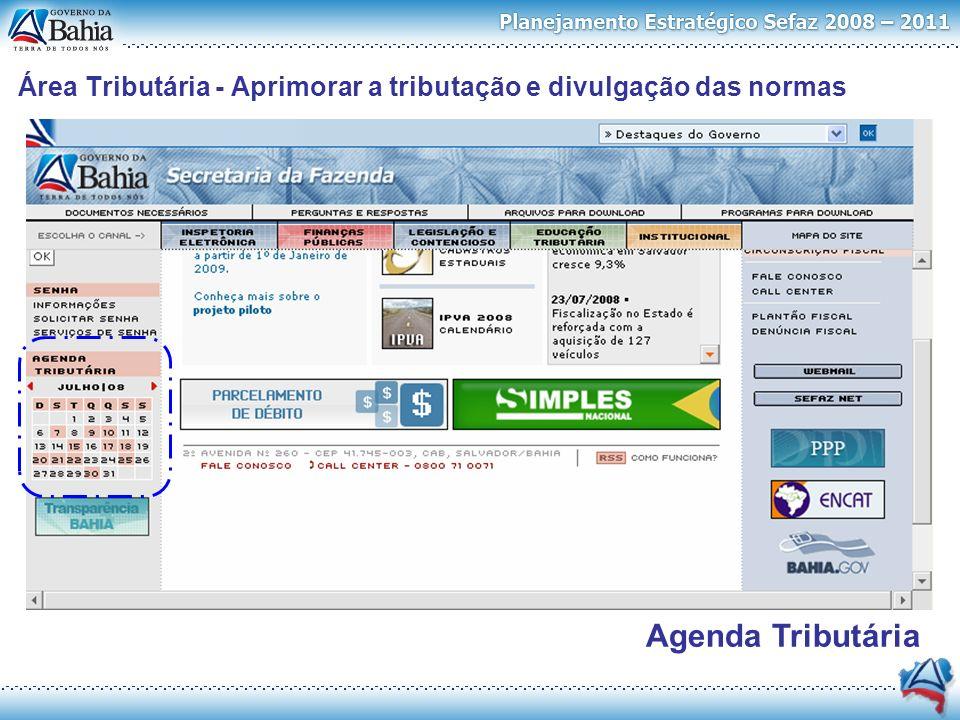 Agenda Tributária Pareceres Boletim Área Tributária - Aprimorar a tributação e divulgação das normas
