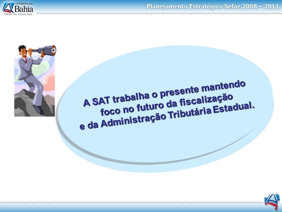 A SAT trabalha o presente mantendo foco no futuro da fiscalização e da Administração Tributária Estadual. A SAT trabalha o presente mantendo foco no f