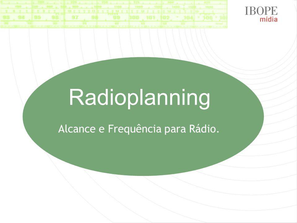 Alcance e Frequência para Rádio. Radioplanning