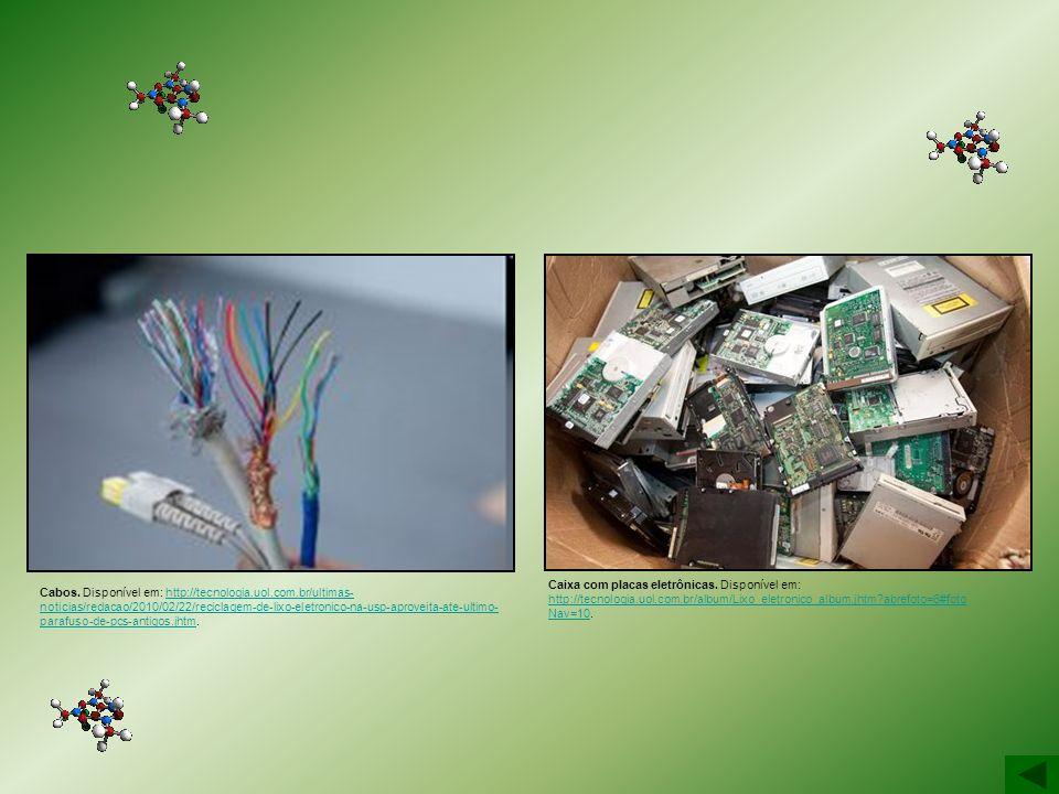 Cabos. Disponível em: http://tecnologia.uol.com.br/ultimas- noticias/redacao/2010/02/22/reciclagem-de-lixo-eletronico-na-usp-aproveita-ate-ultimo- par