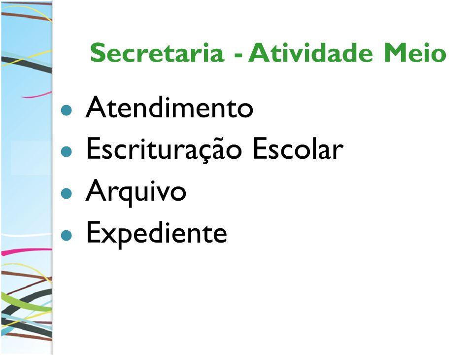 Secretaria - Atividade Meio Atendimento Escrituração Escolar Arquivo Expediente