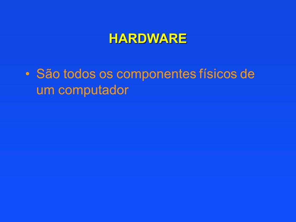 HARDWARE São todos os componentes físicos de um computador