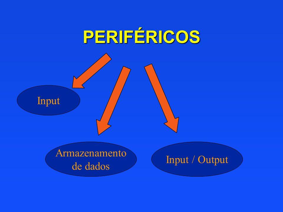 PERIFÉRICOS Input Armazenamento de dados Input / Output