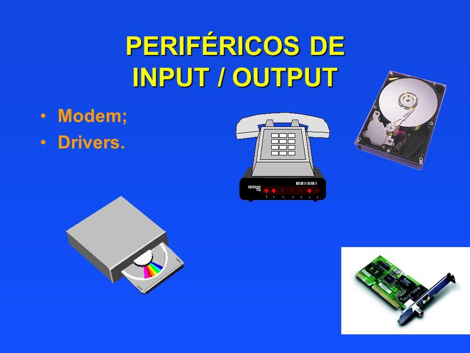 PERIFÉRICOS DE INPUT / OUTPUT Modem; Drivers.