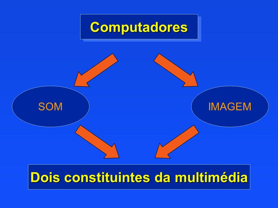 SOMIMAGEM ComputadoresComputadores Dois constituintes da multimédia