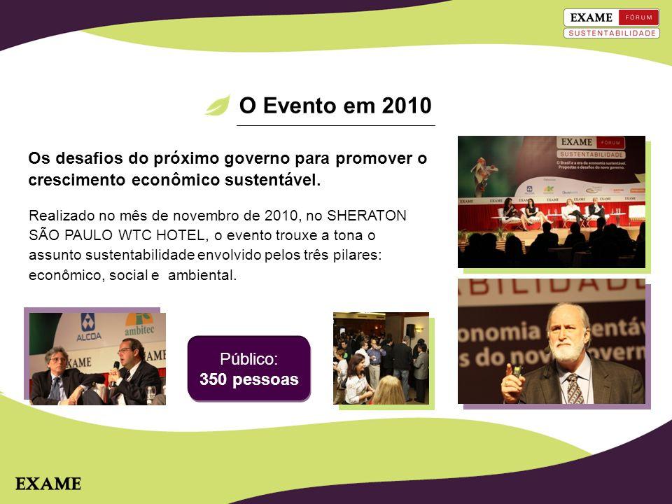 O Evento em 2010 Realizado no mês de novembro de 2010, no SHERATON SÃO PAULO WTC HOTEL, o evento trouxe a tona o assunto sustentabilidade envolvido pe