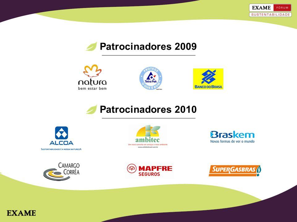 Forte interação dos patrocinadores 2010 Logo na cenografia do evento (banners e palco) Back Drop na entrada do evento Materiais de patrocinadores expostos