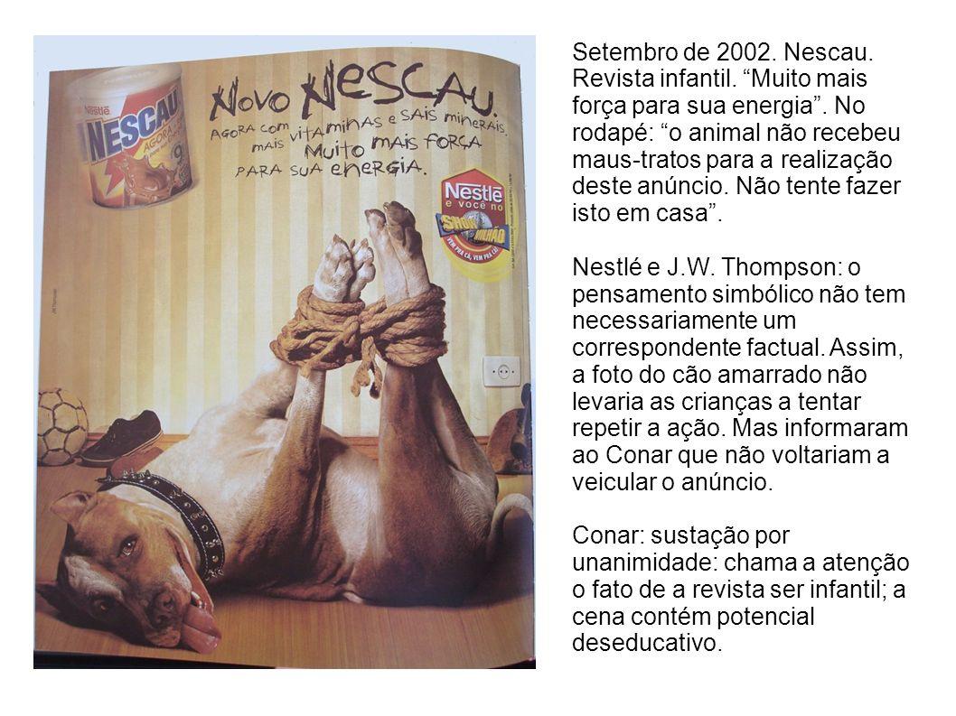 Setembro de 2002.Nescau. Revista infantil. Muito mais força para sua energia.