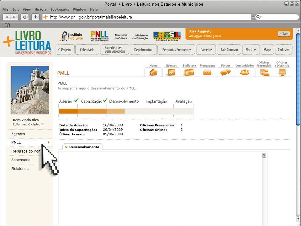 Portal + Livro + Leitura nos Estados e Municípios http://www.pnll.gov.br/portalmaislivroeleitura