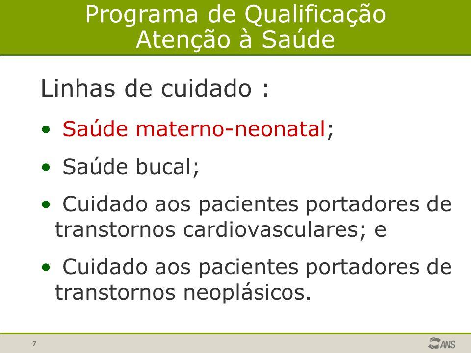 8 Programa de Qualificação -Atenção à Saúde- Indicadores Materno Neonatais Avaliados 1.