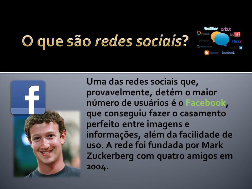 Uma das redes sociais que, provavelmente, detém o maior número de usuários é o Facebook, que conseguiu fazer o casamento perfeito entre imagens e informações, além da facilidade de uso.