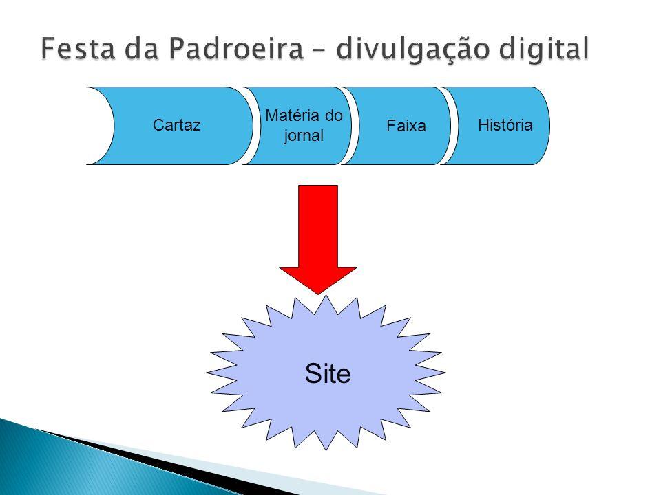 Cartaz Faixa Site História Matéria do jornal