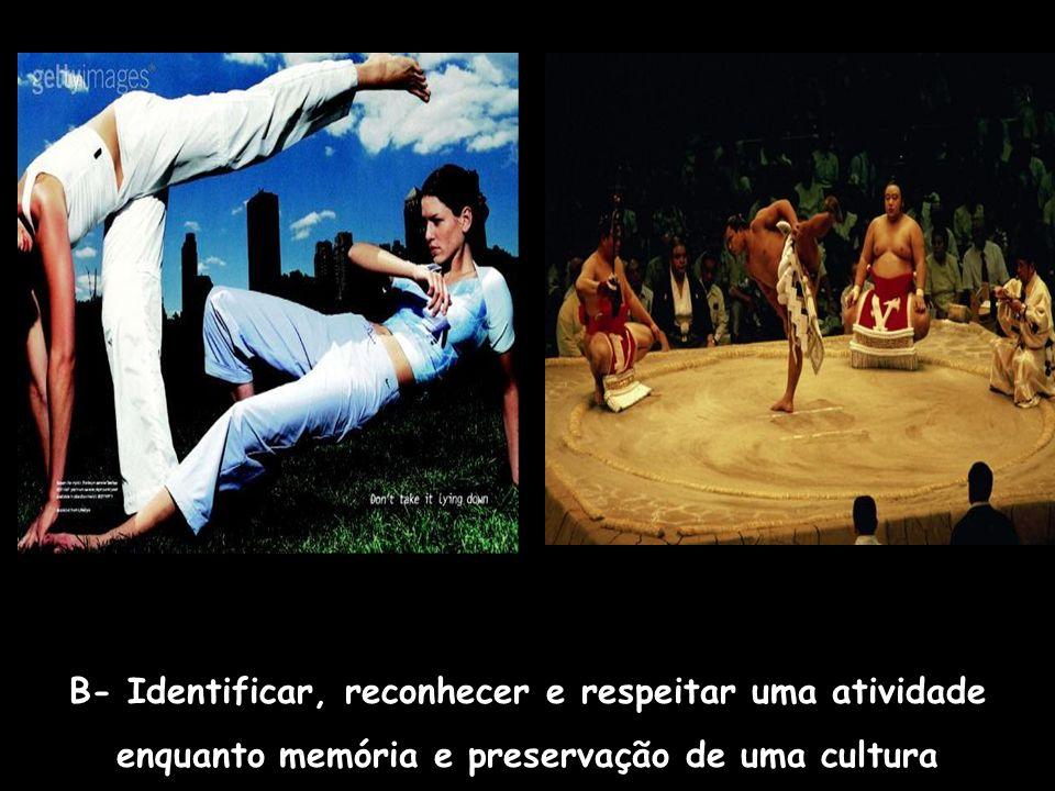 C. Identificar, reconhecer e diferenciar as várias dimensões das práticas esportivas