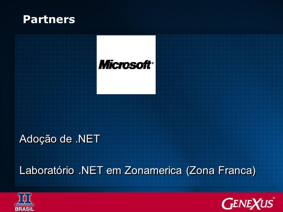 Partners Adoção de.NET Laboratório.NET em Zonamerica (Zona Franca) Adoção de.NET Laboratório.NET em Zonamerica (Zona Franca)