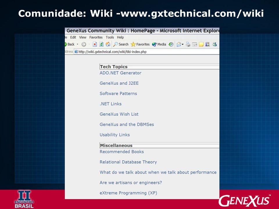 Comunidade: Wiki -www.gxtechnical.com/wiki