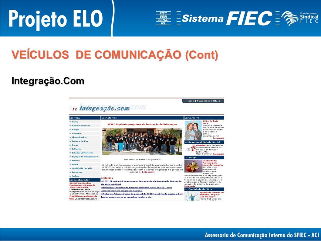 VEÍCULOS DE COMUNICAÇÃO (Cont) Integração.Com