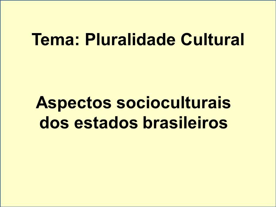 Aspectos socioculturais dos estados brasileiros Tema: Pluralidade Cultural