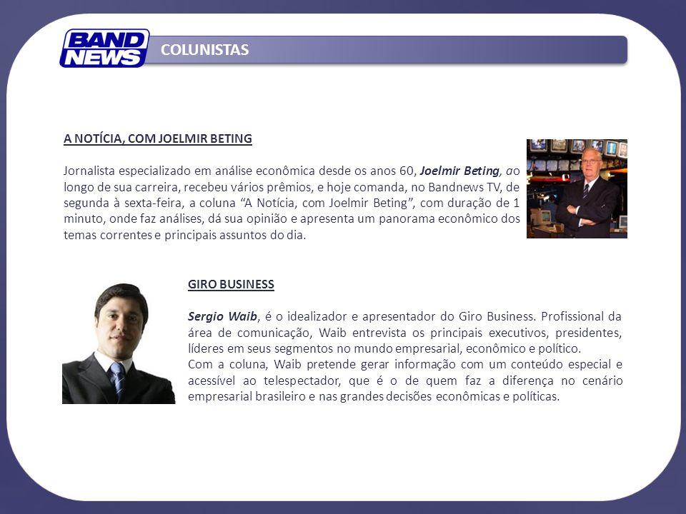 GIRO BUSINESS Sergio Waib, é o idealizador e apresentador do Giro Business. Profissional da área de comunicação, Waib entrevista os principais executi