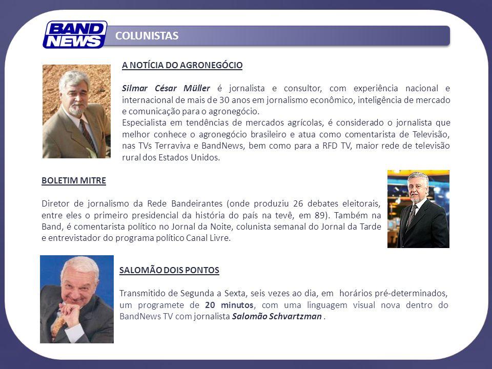 A NOTÍCIA DO AGRONEGÓCIO Silmar César Müller é jornalista e consultor, com experiência nacional e internacional de mais de 30 anos em jornalismo econômico, inteligência de mercado e comunicação para o agronegócio.