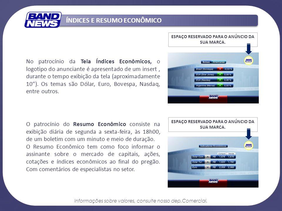MEIA-HORA BANDNEWS Totalmente digital e equipado com tecnologia de ponta, o canal tem um formato inovador, com blocos noticiosos seqüenciais.