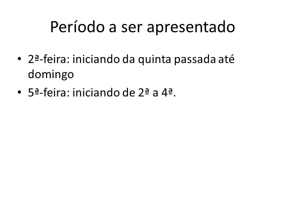 Estrutura Notícias do período (CPTEC, Climatempo, SOMAR, etc.) Imagens de Satélite (CPTEC) – http://satelite.cptec.inpe.br/acervo/goes.formulario.l ogic?i=br http://satelite.cptec.inpe.br/acervo/goes.formulario.l ogic?i=br Análise Sinótica (associando às notícias): – PRNM (aulamaster) – Jatos (aulamaster) – Dados de precipitação (INMET/CPTEC/Ogimet) – Máximas e mínimas (INMET)