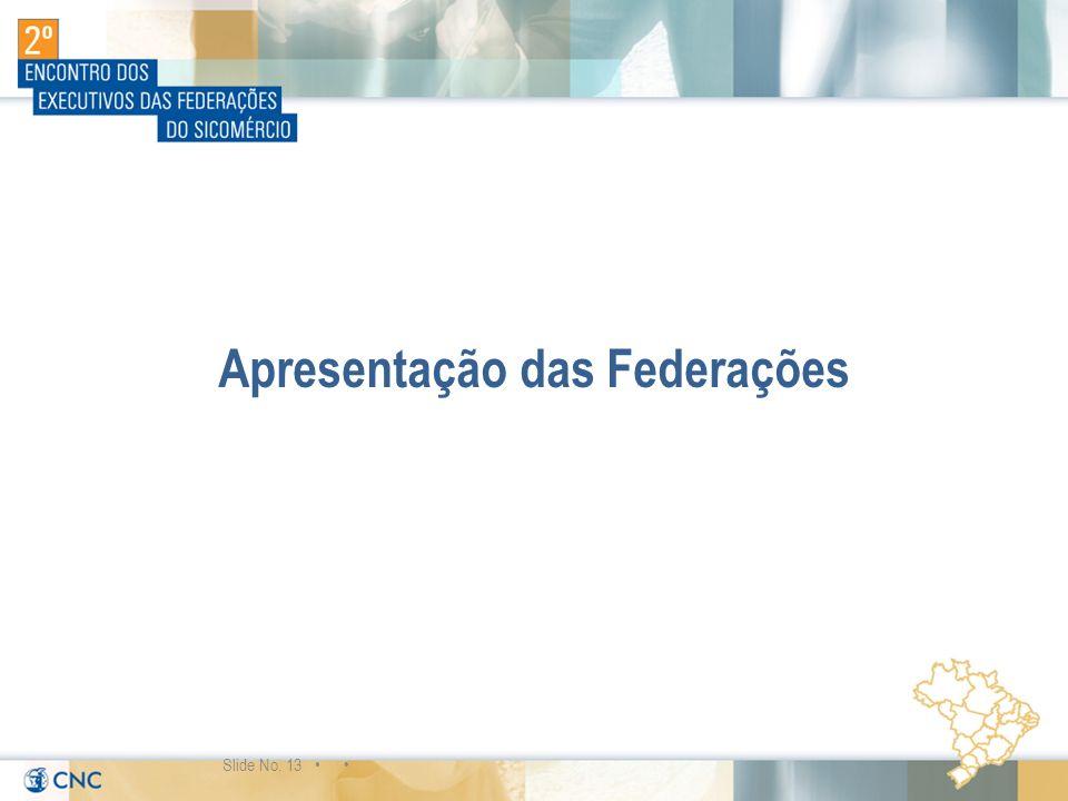 Apresentação das Federações Slide No. 13