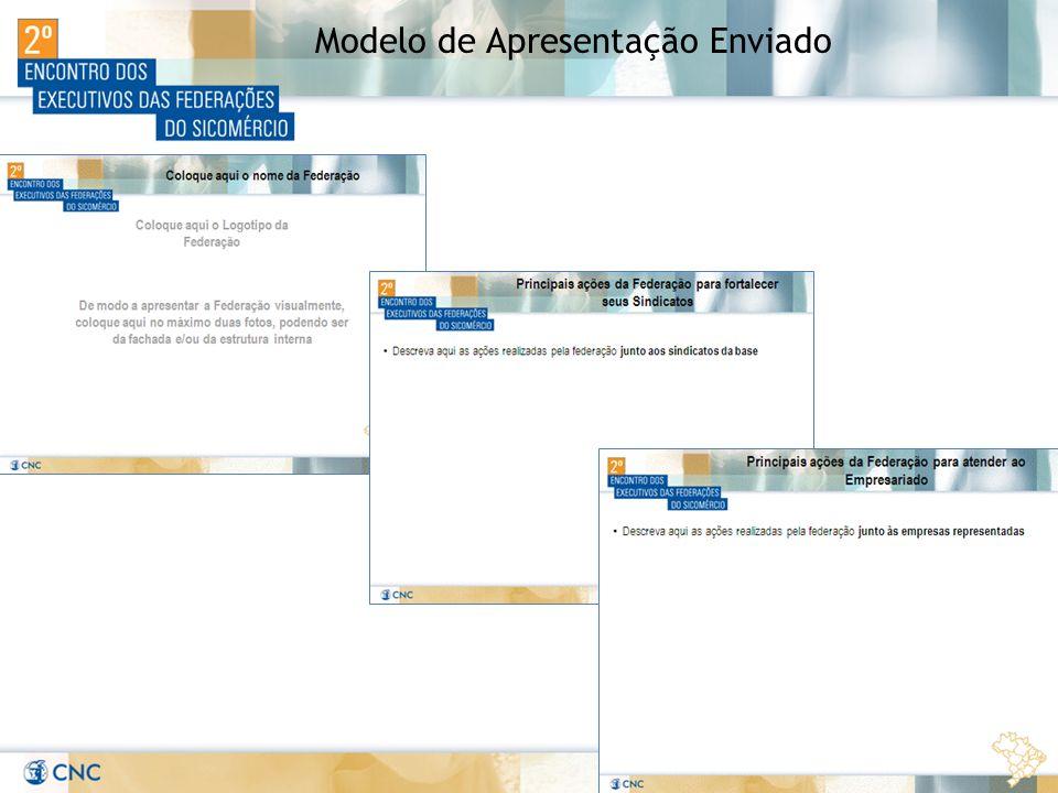 Modelo de Apresentação Enviado