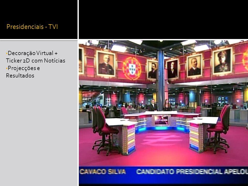 Presidenciais - TVI Decoração Virtual + Ticker 2D com Notícias Projecções e Resultados