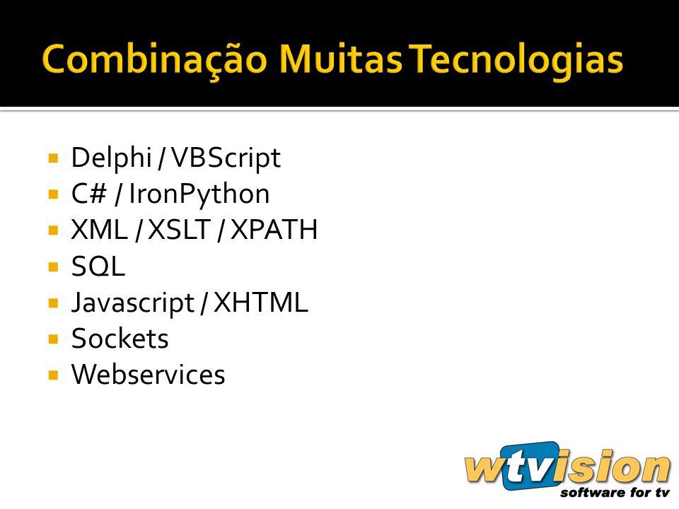 Delphi / VBScript C# / IronPython XML / XSLT / XPATH SQL Javascript / XHTML Sockets Webservices