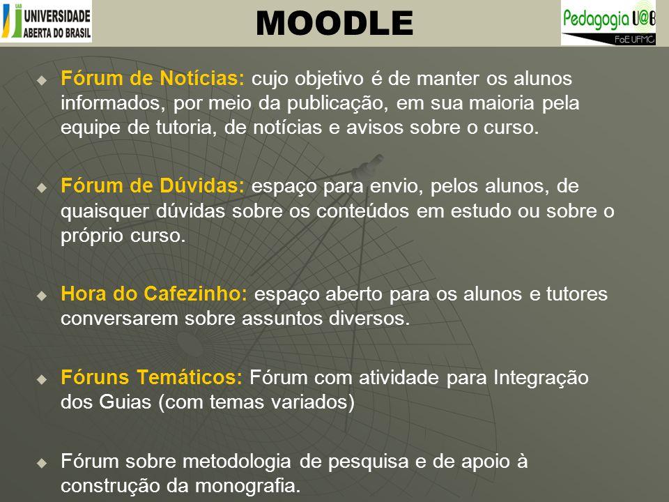 Fórum de Notícias: cujo objetivo é de manter os alunos informados, por meio da publicação, em sua maioria pela equipe de tutoria, de notícias e avisos